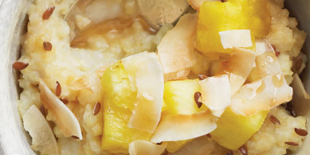 Idealan doručak: Proso s ananasom, kokosom i lanom