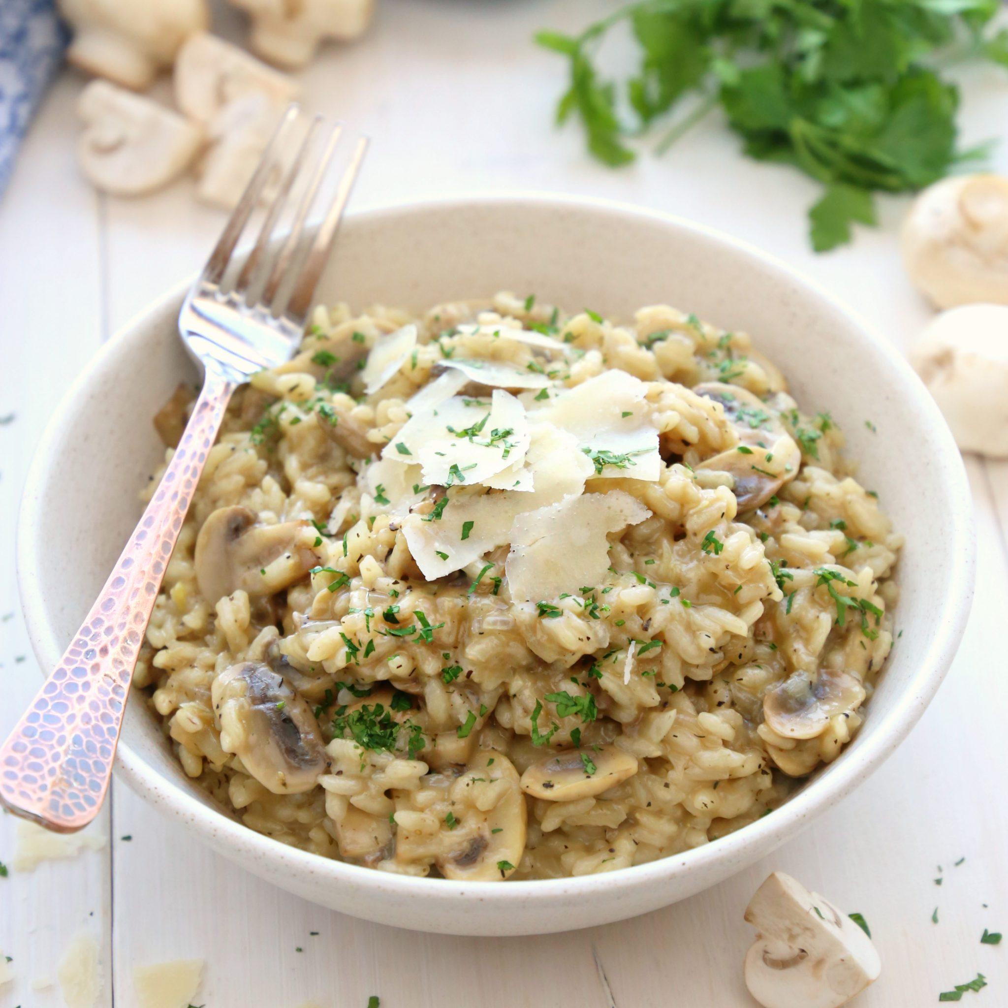 Rižoto s gljivama za ručak
