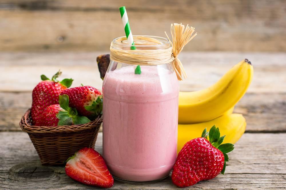 Smuti od jagode i banane za doručak