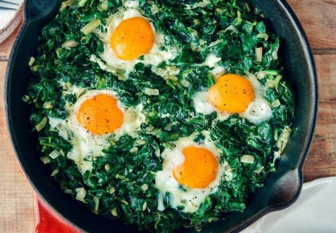 Špinat sa jajem za doručak