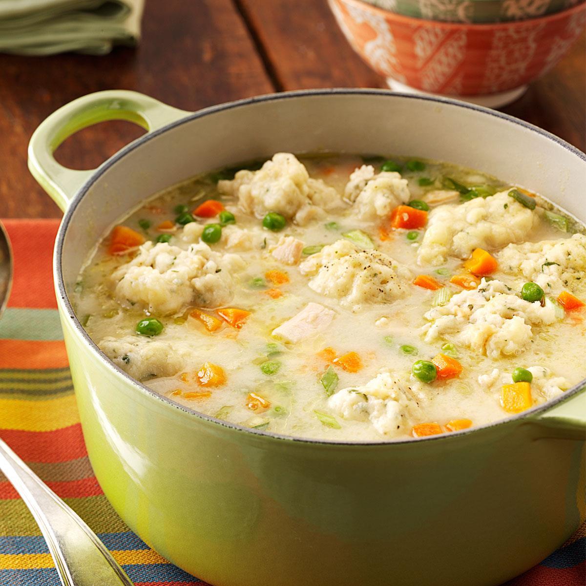 Lagana pileća supa s knedlama